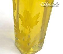 diy etched glass oil vinegar bottle