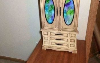 outdated jewelry box makeover, After