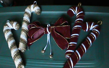 candy cane decorations for the holidays