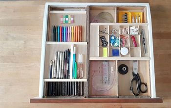 DIY Desk Drawer Organizer With Sliding Trays From Cardboard Box !