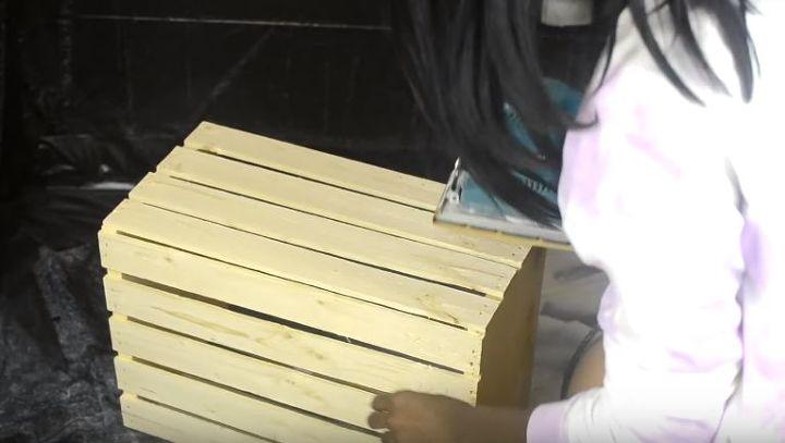 diy crate storage ottoman