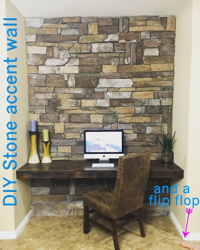 Stone Accent Wall on a Budget