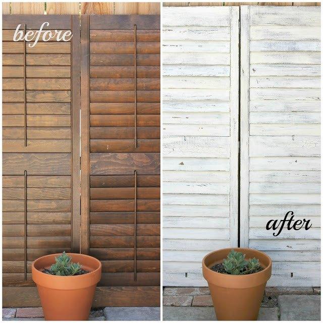 make your own vintage crackled shutters