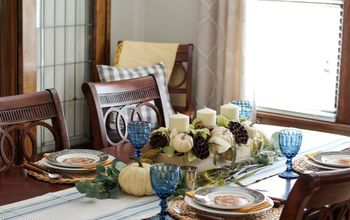 Fall Dining Room Decor With Color, Texture, and Pattern