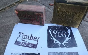 making printing blocks from firewood