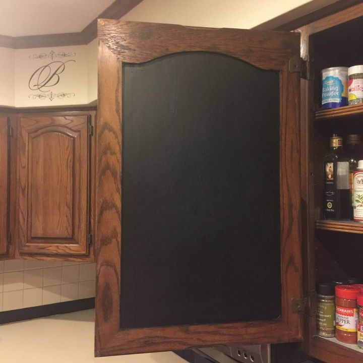 INSIDE Kitchen Cabinet Chalkboard Paint