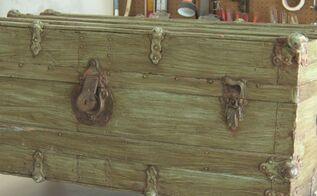 vintage trunk turned treasure, Vintage trunk BEFORE