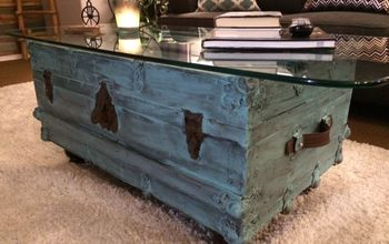 vintage trunk turned treasure, The end result