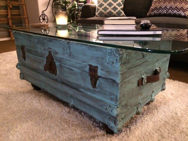 vintage trunk turned treasure, The end result
