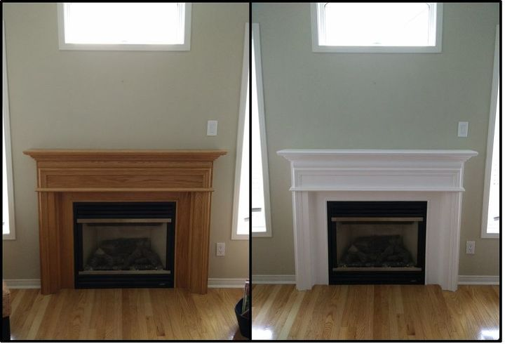 Painting Your Oak Mantel White Hometalk, How To Sand A Wooden Fire Surround
