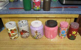 christmas coin repurposed plastic jars w lids