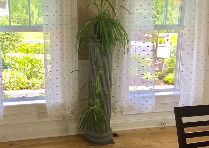 s try these summer 17 diy favorites that can work all year, Decorate With A Marvelous Faux Stone Column