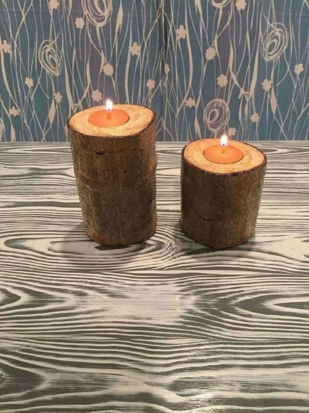 real tree branch candle holders