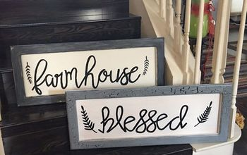 how i became a replica artist and you can too part 1, MY BLESSED FARMHOUSE SIGNS