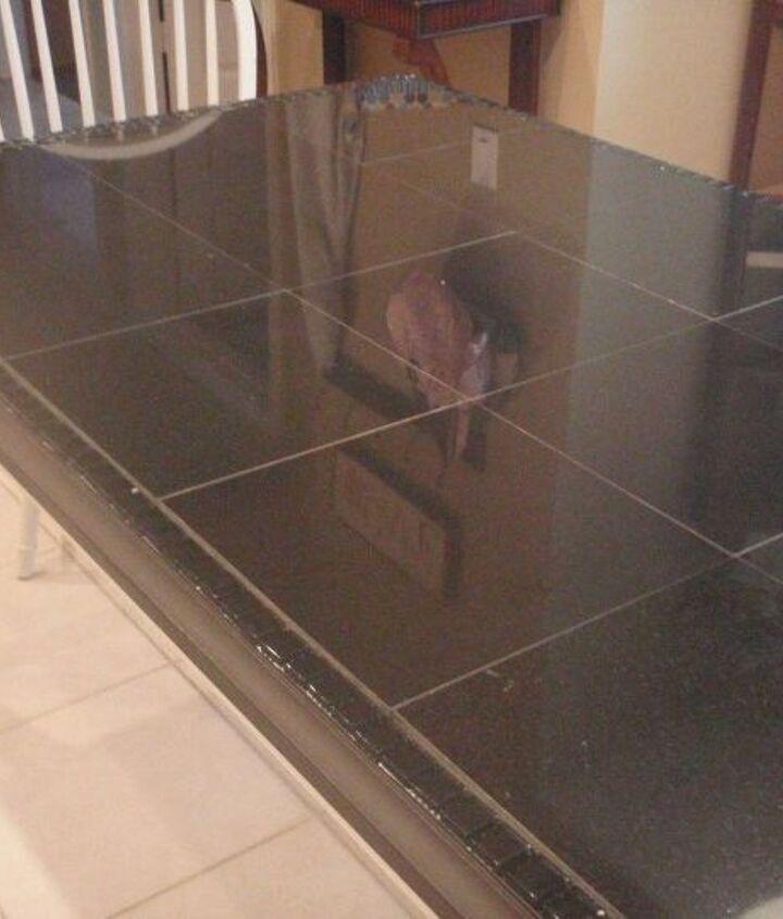 kitchen table redo part 1 granite tiles