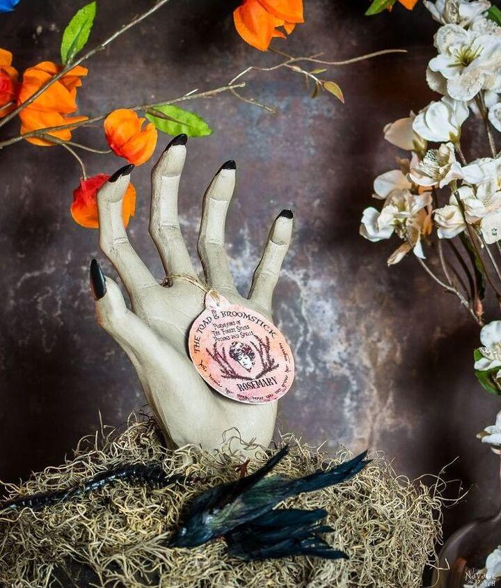 potted hand halloween prop