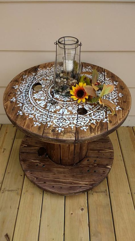 diy cable spool table for ummmm wherever
