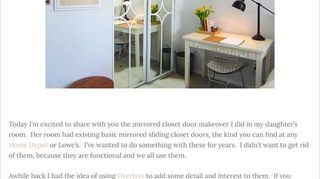 I Have Mirrored Sliding Closet Doors With Gold Trim Very