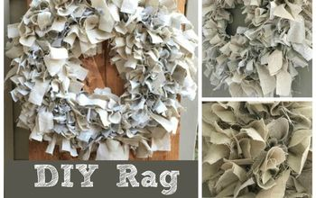 DIY Rag Wreath Tutorial Under $10