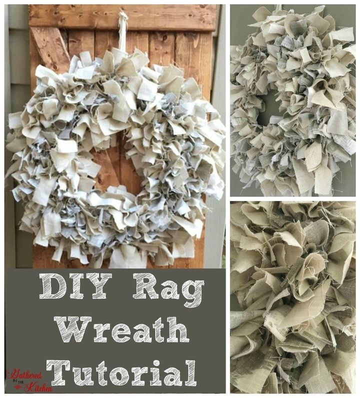 diy rag wreath tutorial under 10