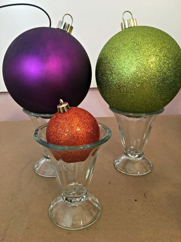 pick up some big christmas ornaments now