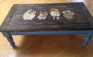 owl stained shaded table