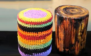 diy cardboard stool looks like wood