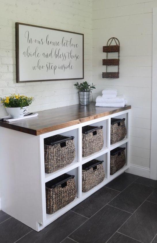 modern farmhouse laundry room reveal