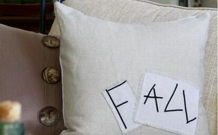 diy fall pillow from painter s drop cloth