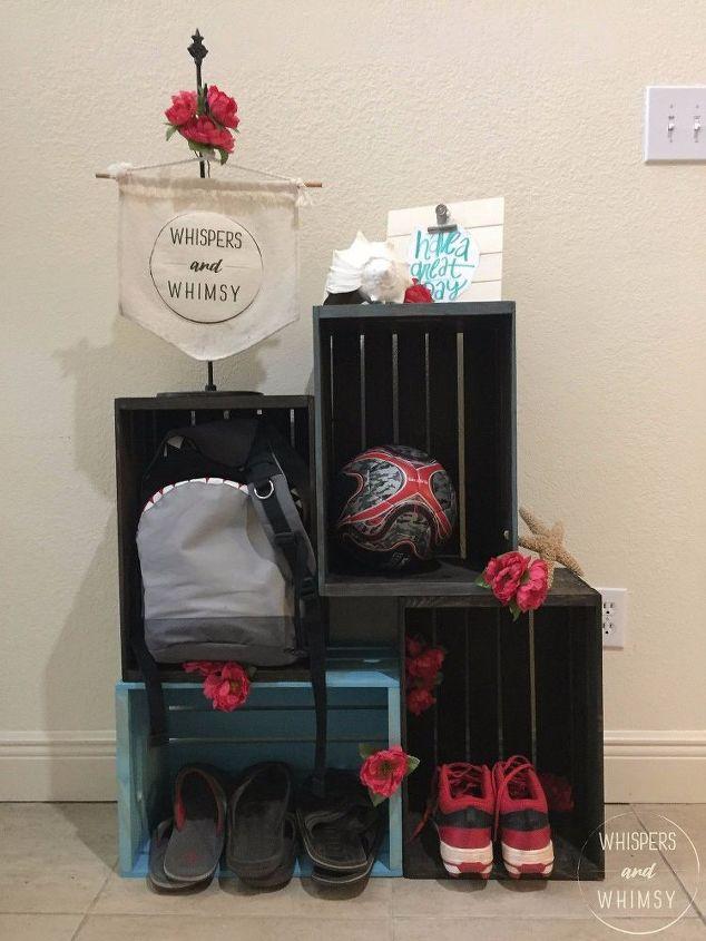 Foyer Mudroom Kit : Stash n dash no tools entryway organizer hometalk