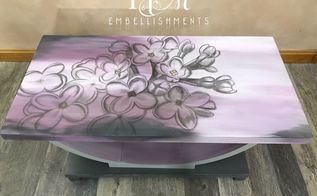 watercolor lilac blossoms table