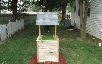 make a wishing well from scrap wood