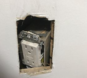 My kitchen outlet pushed back into the wall How do I fix it Hometalk