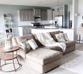 Modern Farmhouse Living Room Refresh With Diy Drop Cloth Curtains