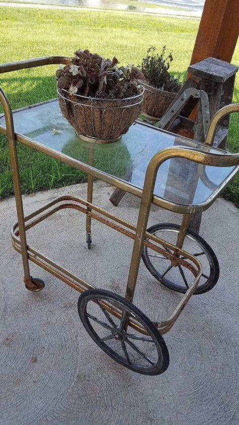 rusty serving cart redo