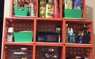 d i y crate shelf