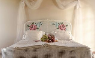an embroided bed