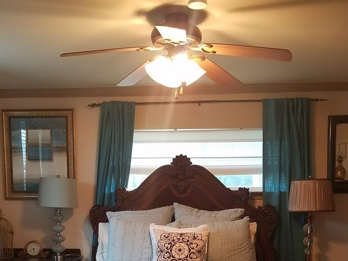 Add lamp shade to ceiling fan hometalk add lamp shade to ceiling fan old ceiling fan aloadofball Choice Image