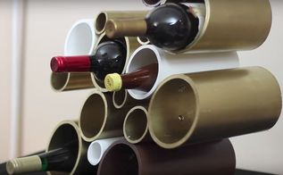 diy pvc wine rack