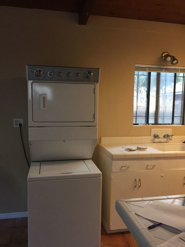 q help how do i hide my stacked washer and dryer