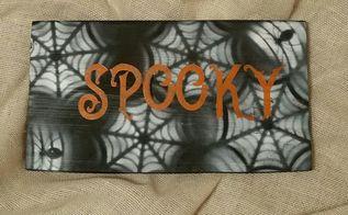 spooky spider web boards boo