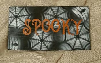 spooky spider web boards boo
