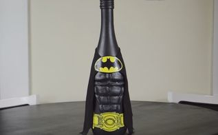 diy batman wine bottle craft
