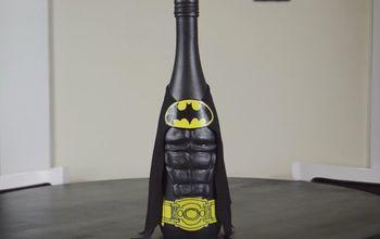 diy batman wine bottle craft
