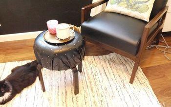IKEA Frosta Stool Hack | Round Upholstered Ottoman
