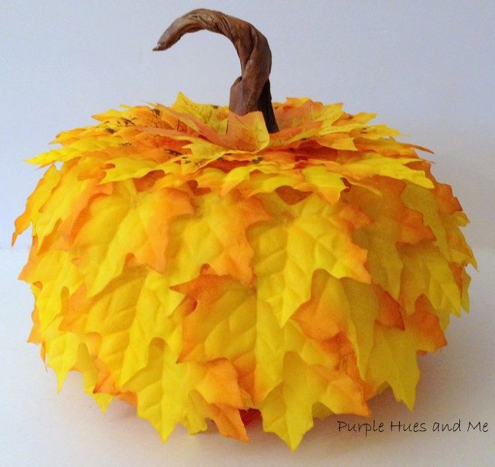 create a handcrafted pumpkin with items from the dollar store