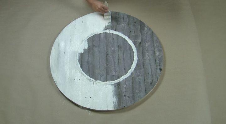 how to make a diy farmhouse wall clock using reclaimed wood