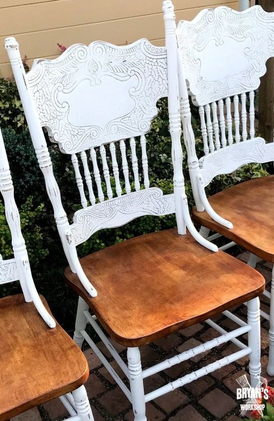 DIY Distressed Oak Chairs