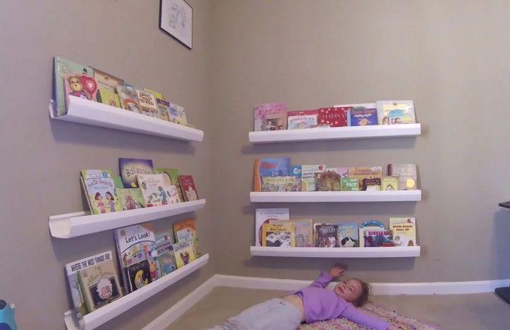 Diy Shelf Ideas Kids Bookshelf From Rain Gutters Lane