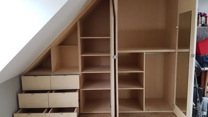 installing a sloped ceiling wardrobe in 2 minutes